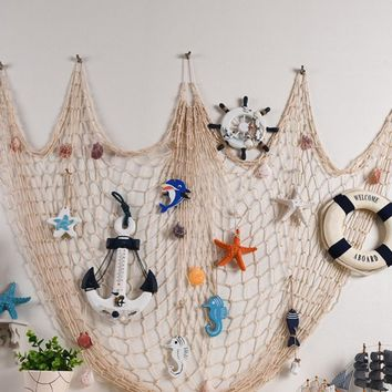 1pcs Decorative Fish Net Mermaid Party Under The Sea Party Pirate Decoration DIY Wall Sticker Hanging Kids Birthday Party Decor