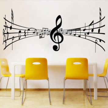 3D Music tabs decals for housewares