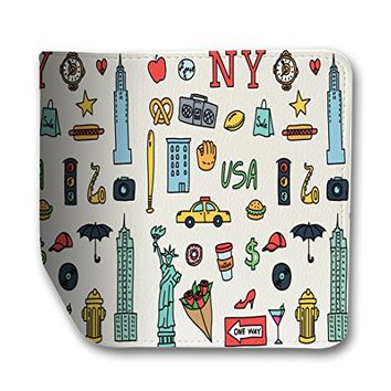 Travel New York USA Leather Business Passport Holder Protector Cover_SUPERTRAMPshop