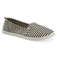 Striped Canvas Slip-On