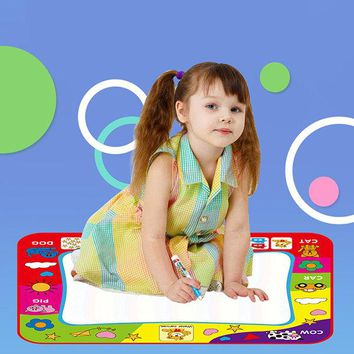 Educational Colorful Big Size Drawing Painting Board Pads Magic Canvas For Children Kids With Pens
