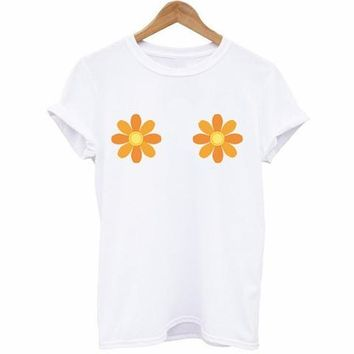 Flower Power Boobs T-Shirt