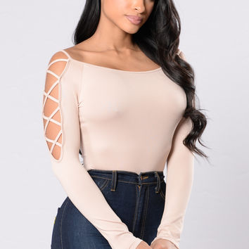 Never Will I Ever Bodysuit - Taupe