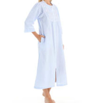 Miss Elaine 874655 Seersucker Long Zip Robe