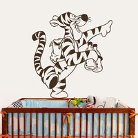 Winnie The Pooh Wall Decals Tiger Decal Nursery Baby Room Decor Vinyl Art MR456