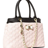 Betsey Johnson Be My Bow Shopper Blush Bag