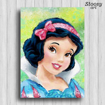Snow White poster disney princess print nursery girl art