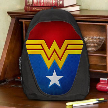 Wonder Woman Justice League Female Furies Teen Kids Canvas School Backpack Bag Rucksack