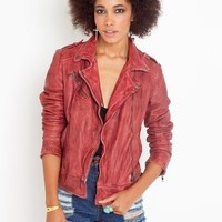 Mallow Leather Moto Jacket in Clothes at Nasty Gal