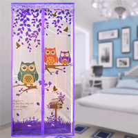 Anti Mosquito Magnetic Curtain Automatic Closing Door Screen Owl Style
