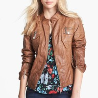 Jou Jou Faux Leather Bomber Jacket (Juniors) | Nordstrom