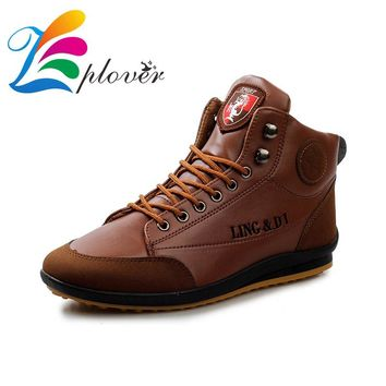 Zplover men boots 2016 new fashion leather shoes for men casual shoes spring autumn men boots brand outdoor casual boats hombre