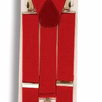 Red Suspenders Belt Clown Gangster Costume Accessory