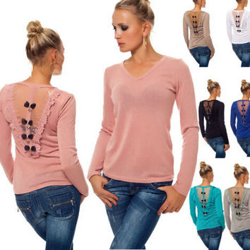 Long Sleeve T-Shirt with Bow