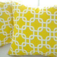 Corn Yellow throw pillow cover 18 x 18