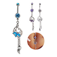 Navel Rings Stainless Steel Belly Ring [6768822215]