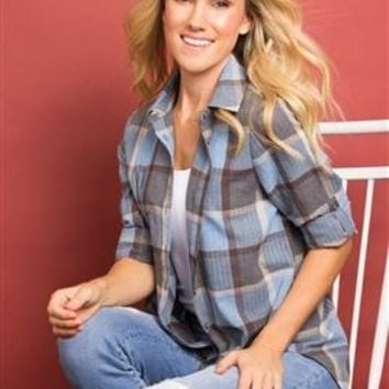 Not Your Boyfriend's Plaid Top by Simply Noelle