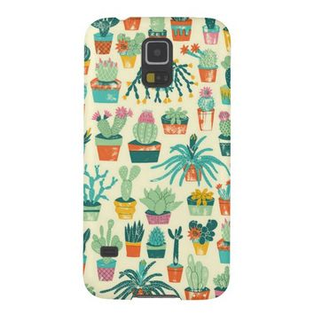 Cactus Flower Pattern Samsung Galaxy S5 Case