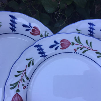 Vintage china plates, vintage Avondale salad plates by Nikko, French country decor china dishes, cottage chic Provincial dessert plates