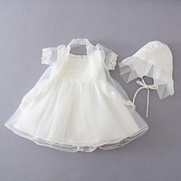 Baby Girl Christening gowns Baptism Clothes 1 year birthday dress Infant Party Dress Wedding Wear baptism of infants formal wear