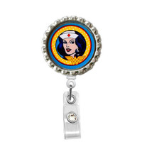 Super Nurse - Name Badge Holder - Cute Badge Reel - ID Badge Reel - Pharmacy Tech Badge - Pharmacist Badge Reels
