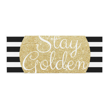 "Richard Casillas ""Stay Golden "" Black Gold Bed Runner"
