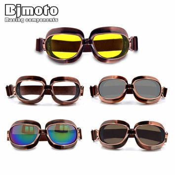 High Quality Motorcycle Goggles Retro Flying Scooter Aviator Helmet Glasses Outdoor Sports Eyewea Vintage Motorbike Glasses