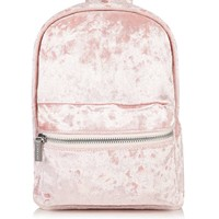 **Pink Velvet Backpack by Skinny Dip | Topshop