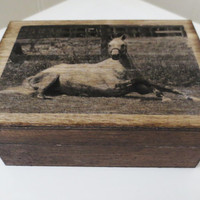 Custom Horse Keepsake box