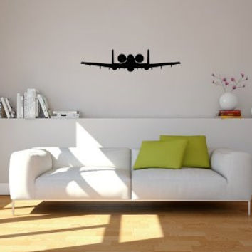 Fairchild Republic A-10 Thunderbolt II Warthog Military Airplane Silhouette Vinyl Wall Decal Sticker