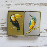 Vintage collection of Bird Playing Cards / 2 decks of cards
