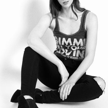 Gimme All Your Lovin' Lace Tank - Vintage Black