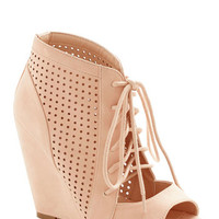 ModCloth Statement Perforate and See Wedge in Rose