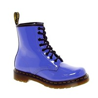 Dr Martens 1460 Dusty Blue Patent Lamper Boots at asos.com