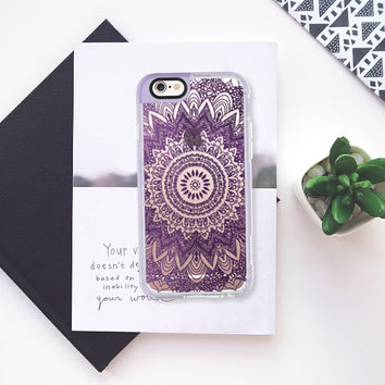 BOHOCHIC MANDALA IN PURPLE iPhone 6s case by Nika Martinez | Casetify