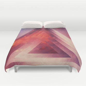 Triangled Too Duvet Cover by DuckyB (Brandi)