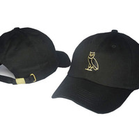 Drake OVO CLASSIC GOLD OWL Black SNAPBACK Caps Casquette OVO CORE COLLECTION HATS STRAPBACK SPORT CAPS Baseball Cap PP