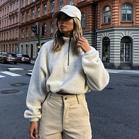 Cropped Fleece Pullover