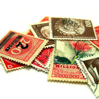 Vintage Stamp Lot of Red German Stamps