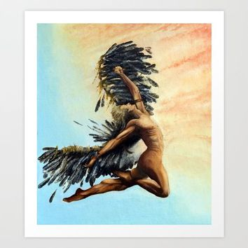 Season of the Legend - Icarus Descending Art Print by michael jon