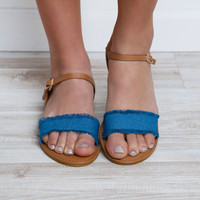 Vacation Time Sandals - Denim