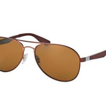 NEW Genuine Ray Ban RB3549 01283 61 Matte Brown Mens Womens Sunglasses Glasses