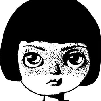 freckle face doll head png clip art big eye girl Digital Image Download toy clip art toy wall art graphics printables
