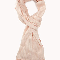 FOREVER 21 Sequin Stripe Scarf Light Pink One