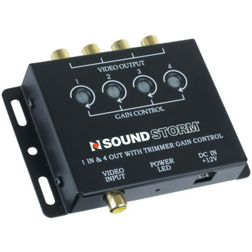 Soundstorm Video Signal Amp With 1 Input & 4 Outputs