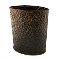 Jan Barboglio Hammered Oval Wastebasket | Rain Collection