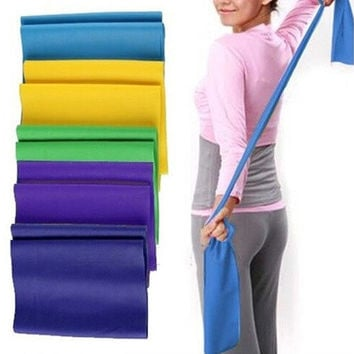 120CM High Elasticity Yoga Tension Band Latex Slimming Strap Fitness Pull Band [8069650055]