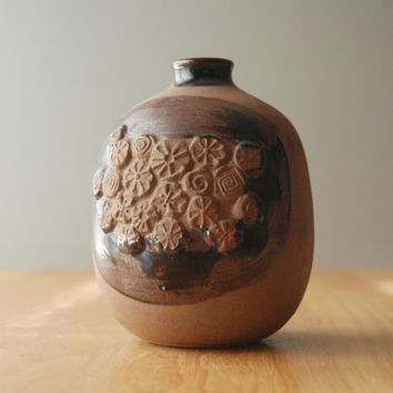 Vintage Textured Vase by Takahashi