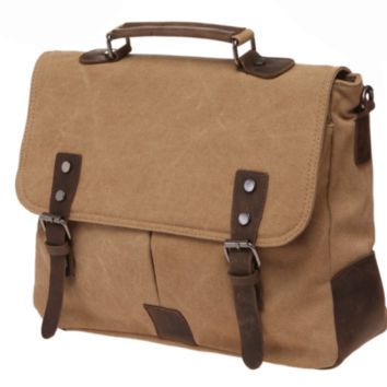 New Mens Tactical Military Vintage Trailblazer Laptop Bag with Leather Accents