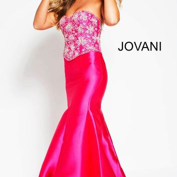 Jovani 94285 Embellished Bodice Strapless Sweetheart Evening Dress